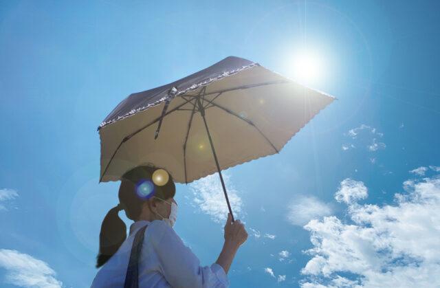 日傘でマスク蒸れ・マスク焼け防止!熱中症対策にも最適!